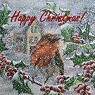 Very Snowy Robin Christmas Card / Decoration by EuniceWilkie