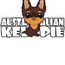Kelpie (Brown & Tan) - DGBigHead by DoggyGraphics