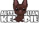 Kelpie (Brown) - DGBigHead by DoggyGraphics
