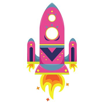 Cartoon flat spaceship. by TatianaPankova