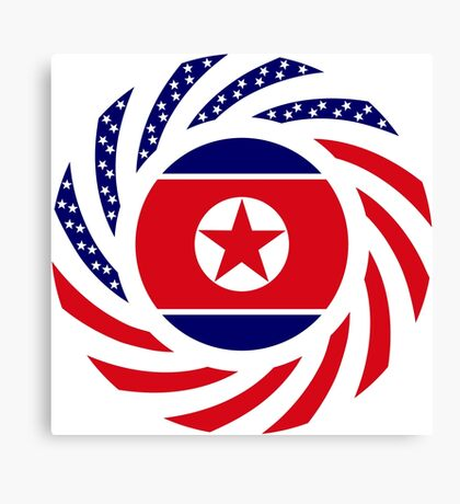 North Korean American Multinational Patriot Flag Series Canvas Print