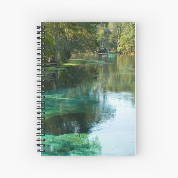 Tubing in the River Vertical Spiral Notebook