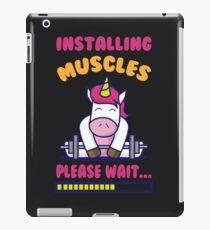 Cute Installing Muscles Please Wait Art Unicorn Lift Gift iPad Case/Skin