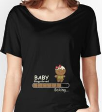 Baby Gingerbread  Baking Christmas For Pregnant Women  Women's Relaxed Fit T-Shirt