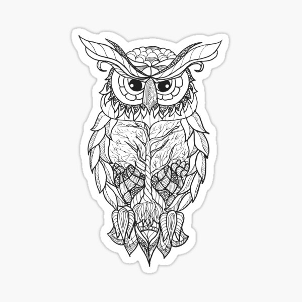 Owl in The Picture Sticker