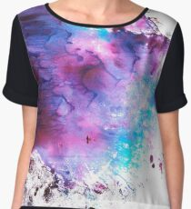 Purple and Blue abstract Chiffon Top