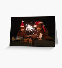 Deano Bears Christmas Time Greeting Card
