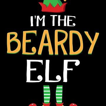 Funny I'm The Beardy Elf Family Group Christmas by JapaneseInkArt