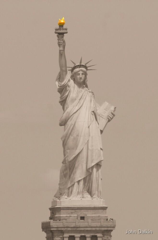 Statue of Liberty in Sepia by John Dalkin