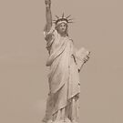 Statue of Liberty in Sepia by John Dalkin