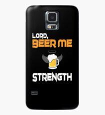 Funda/vinilo para Samsung Galaxy Señor, cerveza me fuerza camiseta