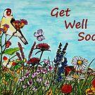 Flower Meadow Get Well Soon Card by EuniceWilkie
