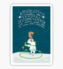 Yeti & Hirsch mit Lichterkette Sticker