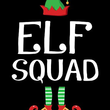 Elf Squad Funny Family Christmas Holiday Group Gift by JapaneseInkArt