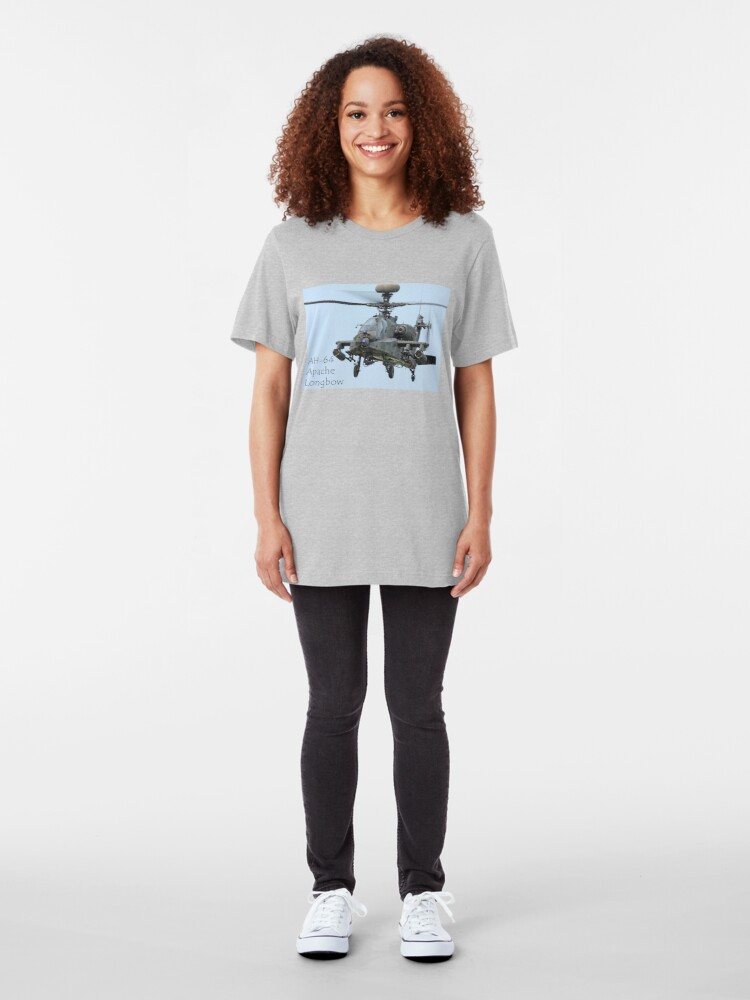 Alternate view of AH-64 Apache Longbow  Slim Fit T-Shirt