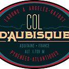 Col d'Aubisque 01 T-Shirt + Sticker - Route des Cols Pyrenees by ROADTROOPER