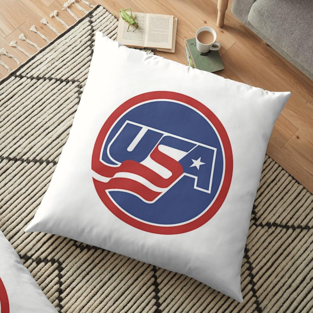 USA Hockey Logo Floor Pillow