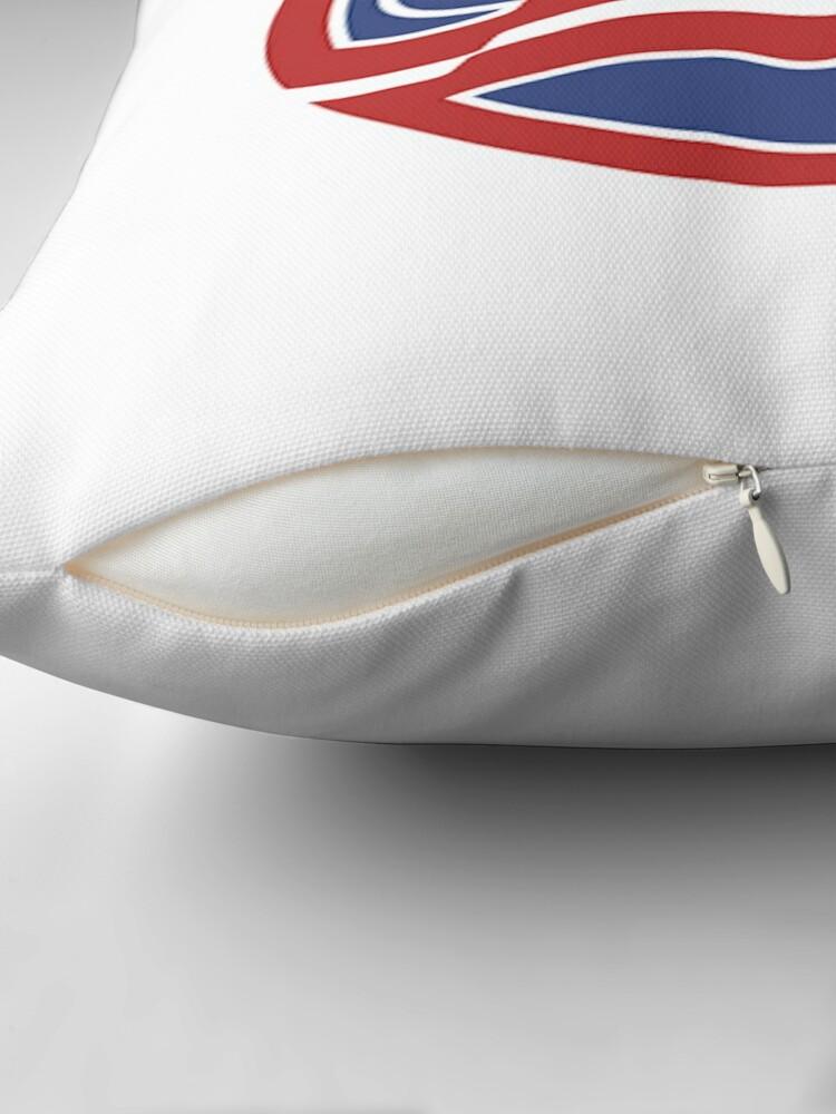 Alternate view of USA Hockey Logo Floor Pillow