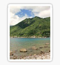 a desolate Dominica landscape Sticker