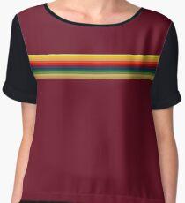 Thirteen 'Whittaker Rainbow' Shape Doctor T Shirt Pink Red Burgundy Chiffon Top