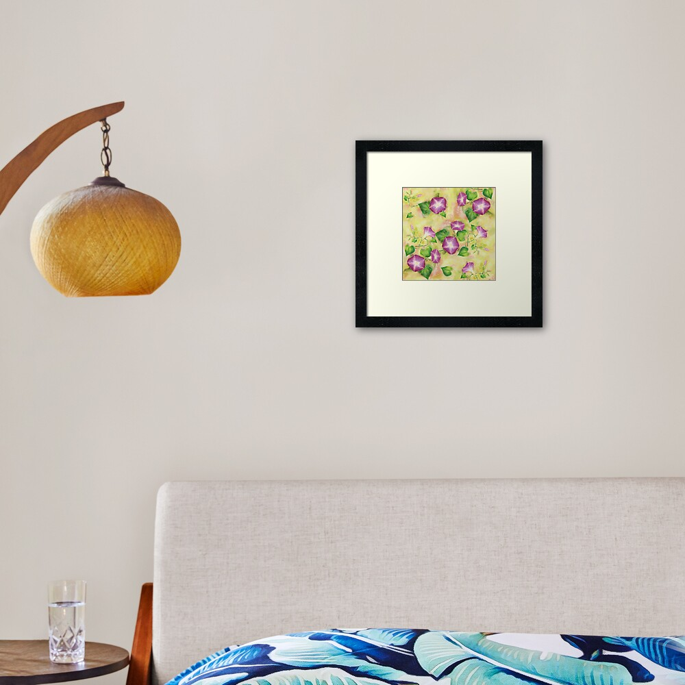 Dreamy Flowers Framed Art Print