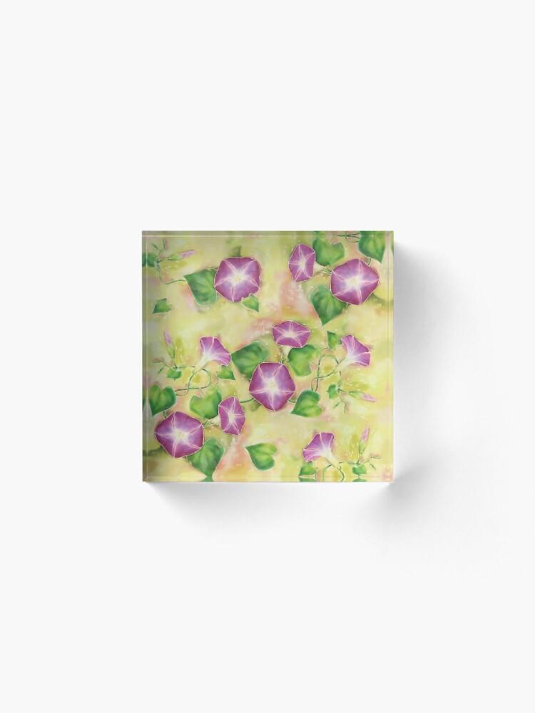 Alternate view of Dreamy Flowers Acrylic Block