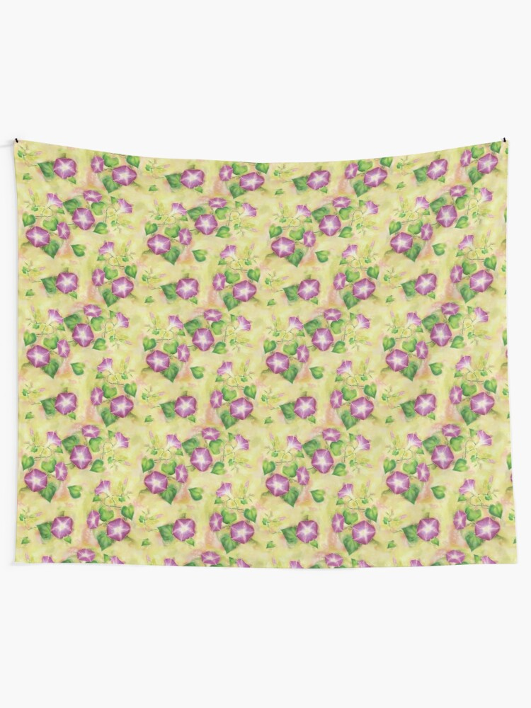 Alternate view of Dreamy Flowers Tapestry