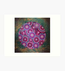 Abstract Dot Painting IN LOVE WITH NATURE by Dutch Artist Tessa Smits Art Print