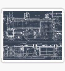 Steam Train Blueprint Sticker