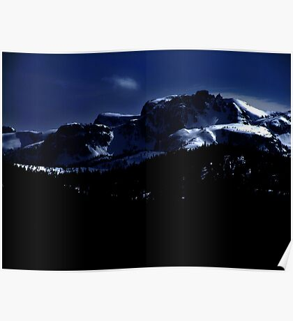 Moonlit Mountains Poster