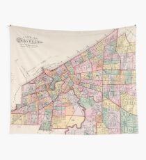 Tela decorativa Mapa Vintage de Cleveland OH (1892)