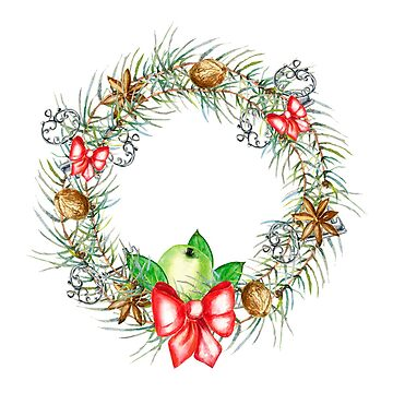 Christmas spices, wreath, old keys, christmas tree, apple by ArtOlB