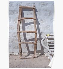 The ladder, Patmos, Greece Poster