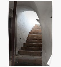 The Stairs, Patmos, Greece Poster