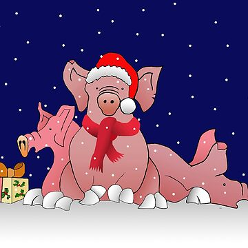 Christmas pigs  by Royisaacs