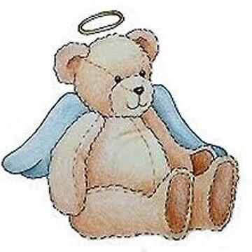 Cute Angel Teddy Bear by BlackStarGirl