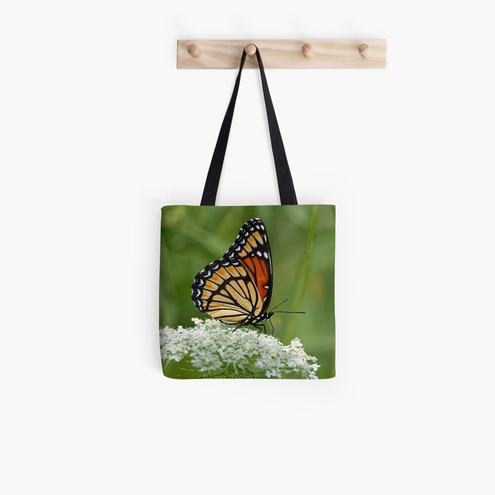 Viceroy Butterfly on Queen Anne's Lace Tote Bag