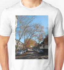 #tree #road #city #street #architecture #outdoors #landscape #house #travel #town #avenue #sky #horizontal #colorimage #builtstructure #naturalparkland #publicpark #nopeople #scenicsnature #day Unisex T-Shirt