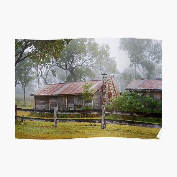 Misty hut Poster