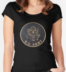 US Army T-Shirt Women's Fitted Scoop T-Shirt