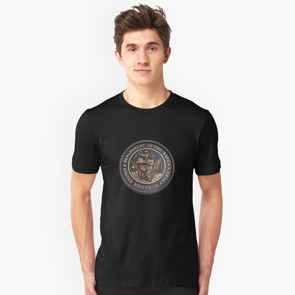 US Navy Emblem T-Shirt Slim Fit T-Shirt