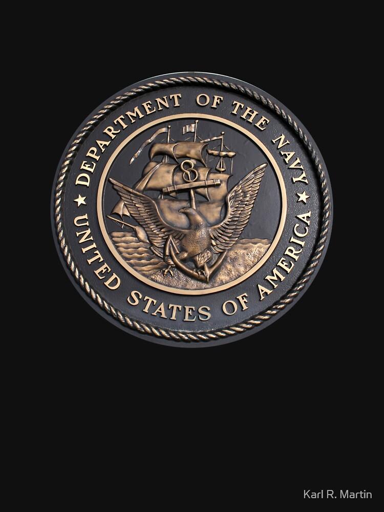 US Navy Emblem T-Shirt by SirEagle