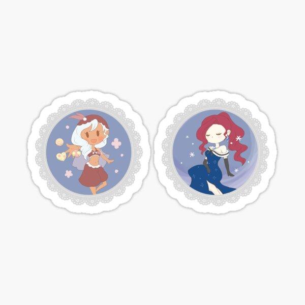 TWTP sticker set: Xaviera and Evangeline Sticker