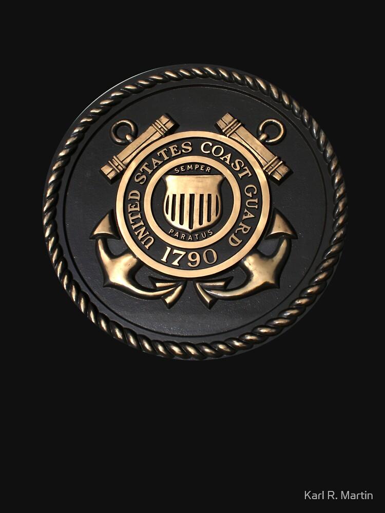 US Coast Guard Emblem T-Shirt by SirEagle
