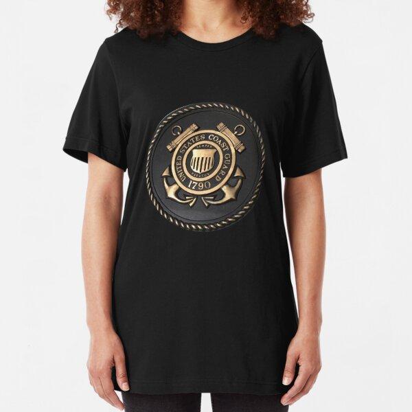 US Coast Guard Emblem T-Shirt Slim Fit T-Shirt