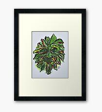 Fall Green Man Framed Print