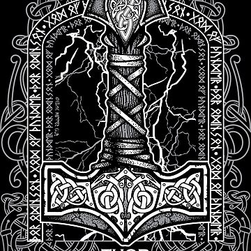 Thor Odinson, God of Thunder (Grayscale) by celthammerclub