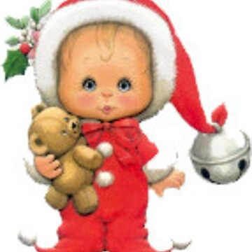Christmas Santa Baby Elf And Teddy by BlackStarGirl