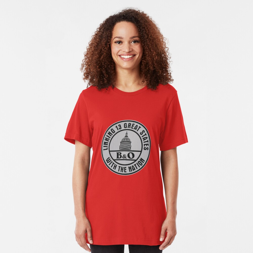 B&O Railroad T-Shirt Slim Fit T-Shirt