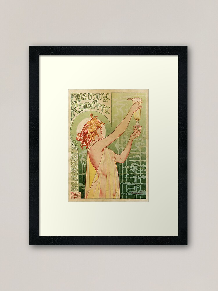 Alternate view of  Absinthe Robette Vintage Alcohol Art Advert  Framed Art Print